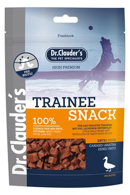 تصویر غذای تشویقی سگ Dr.Clauder's با طعم اردک (تیکه های مکعبی)