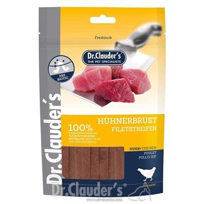 تصویر غذای تشویقی سگ Dr.Clauder's با طعم گوشت مرغ (تیکه های رشته ای)