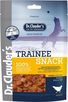 تصویر غذای تشویقی سگ Dr.Clauder's با طعم مرغ (تیکه های مکعبی)