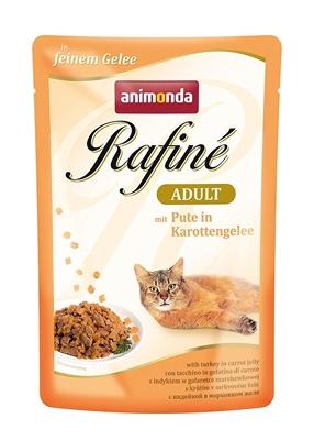 تصویر پوچ Rafine مخصوص گربه تهیه شده از گوشت بوقلمون و هویج - 100 گرم