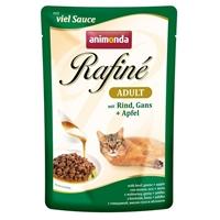 تصویر پوچ Rafine مخصوص گربه تهیه شده از گوشت گاو و غاز و سیب - 100 گرم
