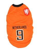 تصویر لباس سگ و گربه با طرح تیم ملی هلند سایز XL