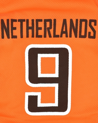 تصویر لباس سگ و گربه با طرح تیم ملی هلند سایز S