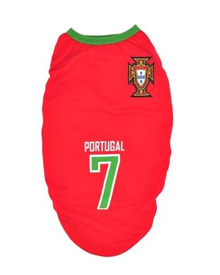 تصویر لباس سگ و گربه با طرح تیم ملی پرتقال سایز S