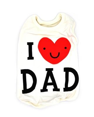تصویر لباس سگ و گربه با I Love My Dad همراه قلب سایز M