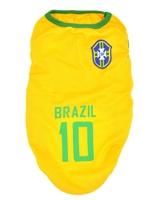 تصویر لباس سگ و گربه با طرح تیم ملی برزیل سایز M