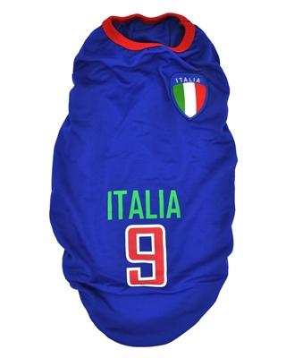 تصویر لباس سگ و گربه با طرح تیم ملی ایتالیا سایز XL