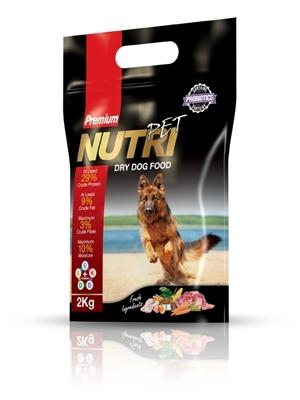 تصویر غذای خشک مخصوص سگ NutriPet با طعم گوشت مرغ - 2 کیلوگرم