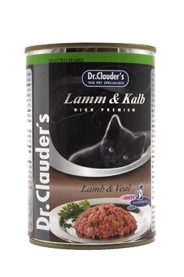 تصویر کنسرو Dr.Clauders مخصوص گربه با طعم گوشت بره و گوشت گاو - 400 گرم
