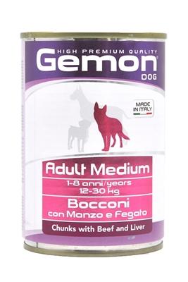تصویر کنسرو گوشت گاو و جگر Gemon مخصوص سگ های بالغ
