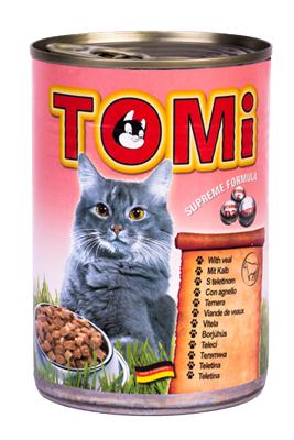 تصویر کنسرو Tomi مخصوص گربه با طعم گوشت گوساله - 400 گرم