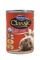 تصویر کنسرو Butchers مخصوص گربه بالغ مدل Classic با طعم گوشت شکار - 400 گرم