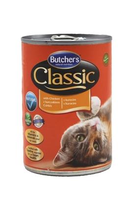 تصویر کنسرو Butchers مخصوص گربه بالغ مدل Classic با طعم مرغ - 400 گرم