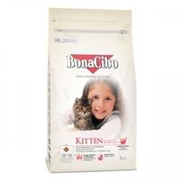 تصویر غذای خشک بچه گربهBonaCibo با طعم مرغ  و ماهی آنچووی و برج - 1 کیلوگرم