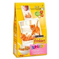تصویر غذای خشک بچه گربه Friskies مدل Junior تهیه شده از مرغ، شیر و سبزیجات - 2 کیلوگرم