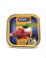 تصویر خوراک کاسه ای Dr.Clauders مخصوص سگ با طعم بوقلمون و برنج