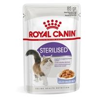 تصویر پوچ Royal Canin مدل STERILISED در ژلاتین مخصوص گربه بالغ عقیم شده - 85 گرم