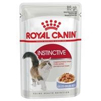 تصویر پوچ Royal Canin مدل INSTINCTIVE در ژلاتین مخصوص گربه بالغ - 85 گرمی