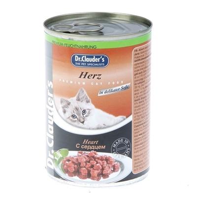 تصویر کنسرو Dr.Clauders مخصوص گربه با طعم دل مرغ - 400 گرم