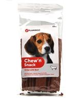 تصویر اسنک تخت تشویقی مخصوص سگ Flamingo مدل Chew'n Snack با طعم گوشت گاو
