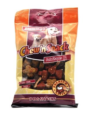 تصویر اسنک تشویقی مخصوص سگ Flamingo مدل Chew'n Snack با طعم میکس گوشت مرغ و گوشت گاو