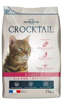 تصویر غذای خشک crocktail مخصوص گربه بالغ با طعم بوقلمون وزن 10 کیلویی