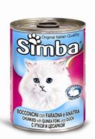 تصویر کنسرو Simba مخصوص گربه با طعم مرغ دریایی و اردک - 415گرم