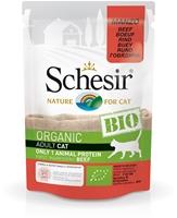 تصویر پوچ مخصوص گربه schesir مدل Bio تهیه شده از گوشت گاو - 85گرم