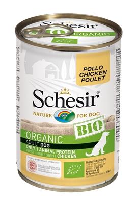 تصویر کنسرو مخصوص سگ schesir مدل Bio تهیه شده از گوشت مرغ - 85گرم