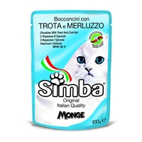 تصویر پوچ مخصوص گربه Simba با طعم ماهی قزل الا و کدفیش