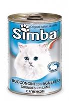تصویر کنسرو Simba مخصوص گربه تهیه شده از گوشت گوسفند - ۴۱۵ گرم