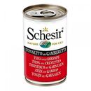 تصویر کنسر Schesir مخصوص گربه با طعم ماهی و میگو 140 گرمی
