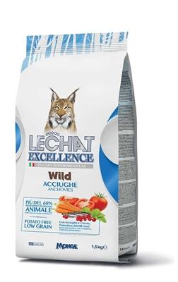 تصویر غذای خشک مخصوص گربه بالغ Lechat Excellence با طعم ماهی کولی - 2 کیلوگرمی