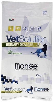 تصویر غذای خشک مخصوص گربه Monge سری Vet Solution مدل Uninary Oxalate مناسب برای پیشگیری از ایجاد سنگ های ادراری - 400گرم