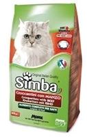 تصویر غذای خشک مخصوص گربه بالغ Simba با طعم گوشت گاو -400گرم