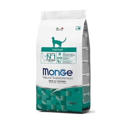 تصویر غذای خشک مخصوص گربه Monge مدل Hairball تهیه شده از گوشت مرغ -  400گرم