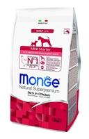 تصویر غذای خشک مخصوص توله سگ تا 3 ماه و سگ مادر شیرده نژاد کوچک Monge تهیه شده از گوشت مرغ - 1.5 کیلوگرم