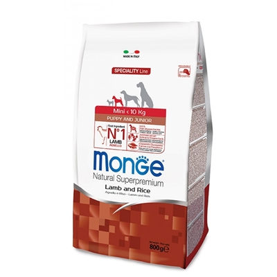 تصویر غذای خشک مناسب برای توله سگ Monge مخصوص نژاد های خیلی کوچک تهیه شده از گوشت مرغ - 800گرم