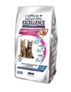 تصویر غذای خشک مخصوص بچه گربه و گربه مادر شیرده Lechat Excellence تهیه شده از گوشت مرغ و تخم مرغ - 400 گرم