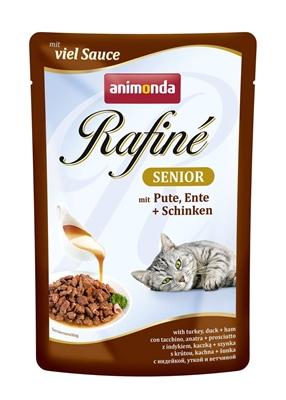 تصویر پوچ Rafine مخصوص گربه تهیه شده از گوشت بوقلمون، اردک و گراز - 100 گرم