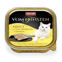 تصویر ووم Feinsten مخصوص گربه بالغ Animonda حاوی گوشت بوقلمون،گاو و هویج - 100 گرم
