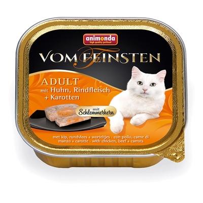 تصویر ووم Feinsten مخصوص گربه بالغ Animonda حاوی گوشت مرغ،گاو و هویج-100 گرم