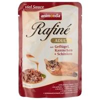 تصویر پوچ Rafine مخصوص گربه حاوی گوشت پرندگان، خرگوش و گراز - 100 گرم