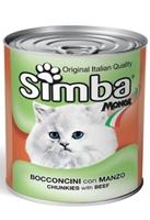 تصویر کنسرو مخصوص گربه Simba تهیه شده از گوشت گاو - 820 گرم