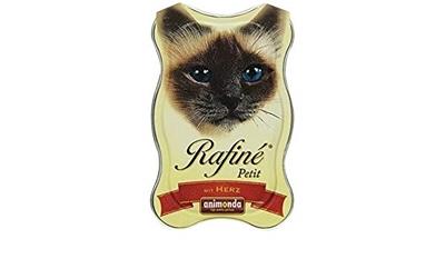 تصویر خوراک کاسه ای گربه Rafine تهیه شده از دل مرغ - 100 گرم