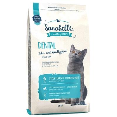 تصویر غذای خشک مخصوص گربه بالغ Sanabelle  مدل Dental برای حفظ بهداشت دهان و دندان - 400 گرم