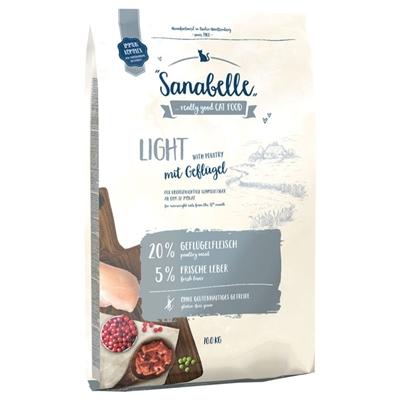 تصویر غذای خشک مخصوص گربه بالغ Sanabelle مدل Light مناسب برای گربه های دارای اضافه وزن - 400 گرم