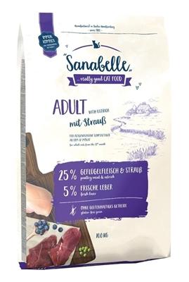 تصویر غذای خشک مخصوص گربه بالغ Sanabelle مدل Adult تهیه شده از گوشت شترمرغ - 400 گرم