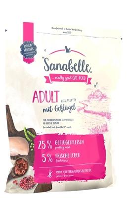 تصویر غذای خشک مخصوص گربه بالغ Sanabelle مدل Adult تهیه شده از گوشت طیور - 400 گرم