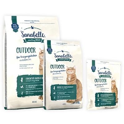 تصویر غذای خشک مخصوص گربه بالغ Sanabelle مدل Outdoor مناسب برای گربه های خارج از خانه - 400 گرم
